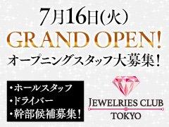 jewelries club Tokyo(ジュエリーズクラブトウキョウ)が完全新規OPEN!<br />堅実な営業で、しっかり稼げる職場が歌舞伎町にあります!!<br /><br />なにより、働きやすさ抜群のオープニングスタッフの募集です。<br />業界にありがちな負イメージ当店にはありません◎<br /><br />▼上下関係厳しそう…。なんてことはありません。全員が同期なので心強いです!<br /><br /><br />▼お給料は最初から提示額を支給していますので◎安心してご応募ください。<br /><br />▼業務時間はしっかり守って、休みはしっかり休む!<br />メリハリをしっかりつけて働けますよ◎<br /><br />とにかく新店ってだけでも、良い環境でお仕事できます!<br />もちろん、未経験の方も大歓迎です。<br /><br /><br />--アルバイトも大歓迎--<br />短時間でもサクっと稼げます。大学生も歓迎ですよ(⌒∇⌒)