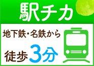 地下鉄・名鉄堀田駅から徒歩3分で通勤アクセス抜群の立地環境です。